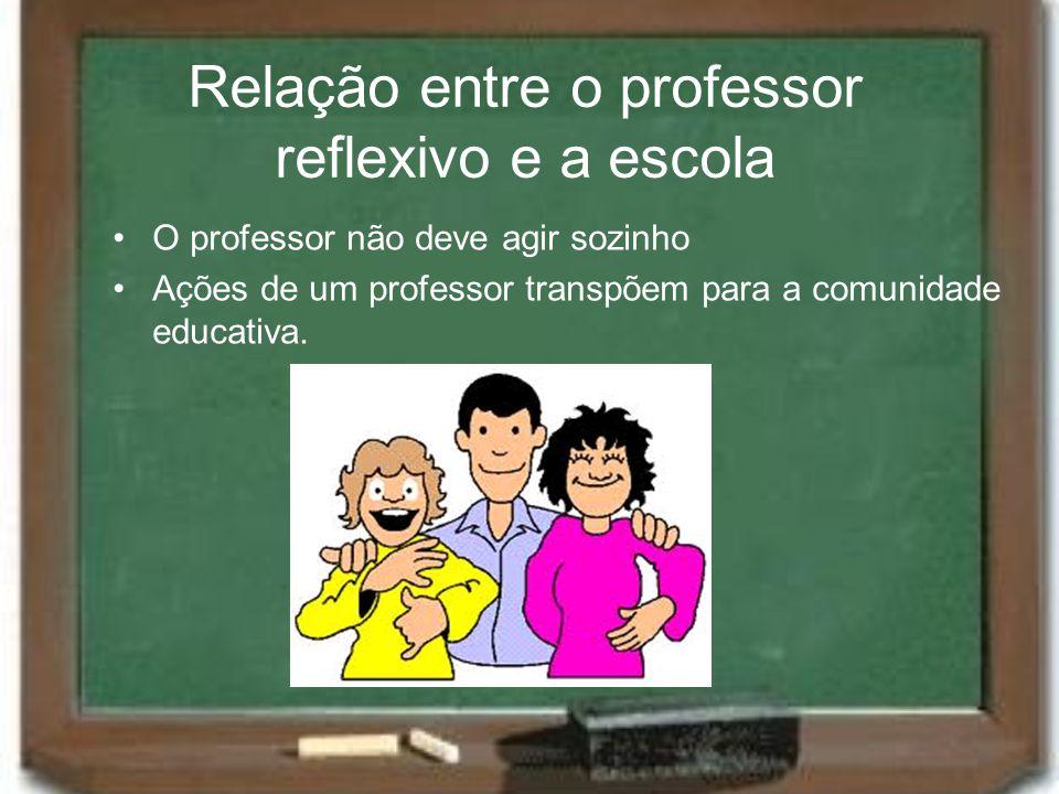 Relação entre o professor reflexivo e a escola