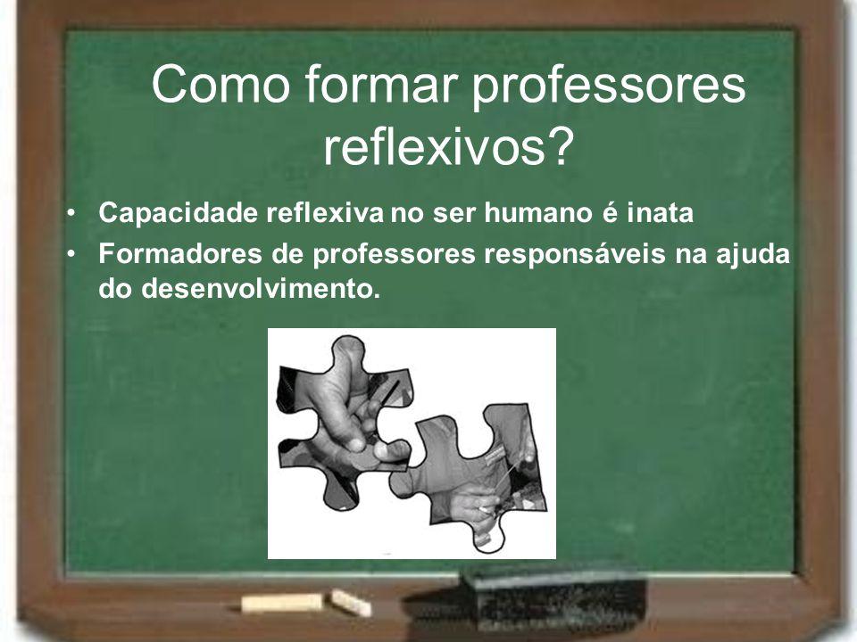 Como formar professores reflexivos