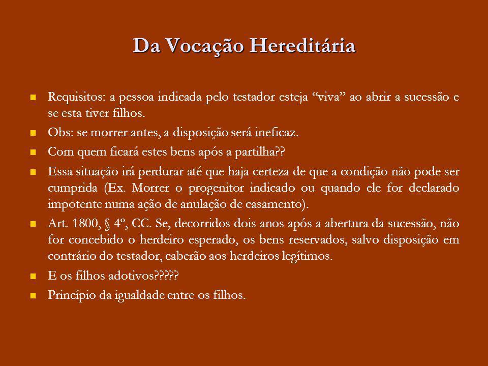 Da Vocação Hereditária