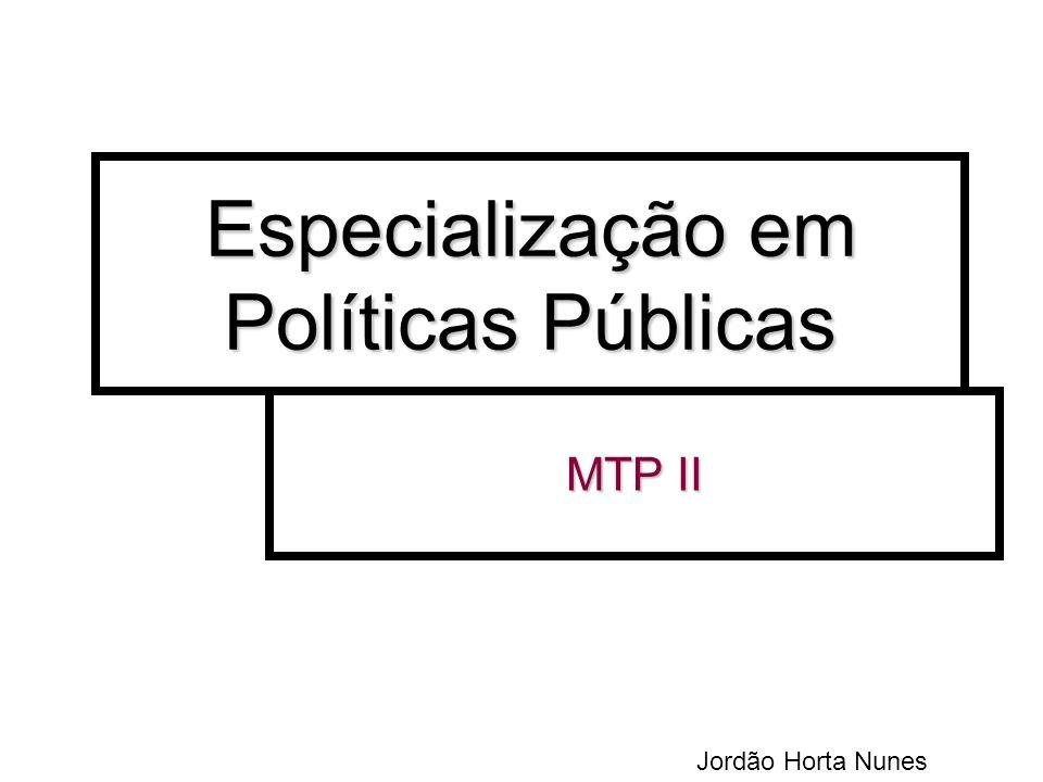 Especialização em Políticas Públicas