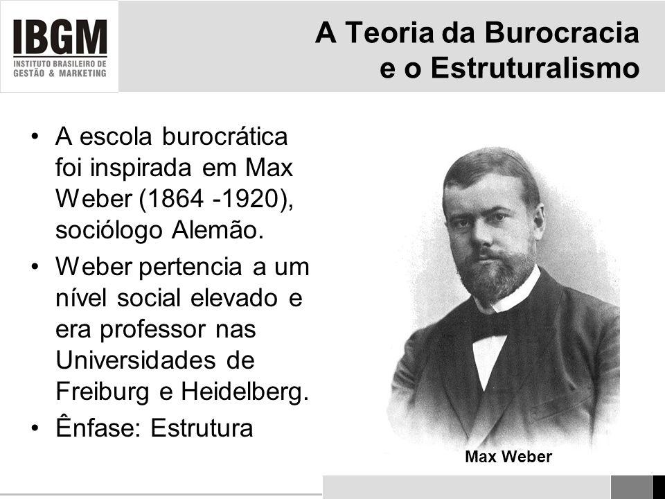 A Teoria da Burocracia e o Estruturalismo