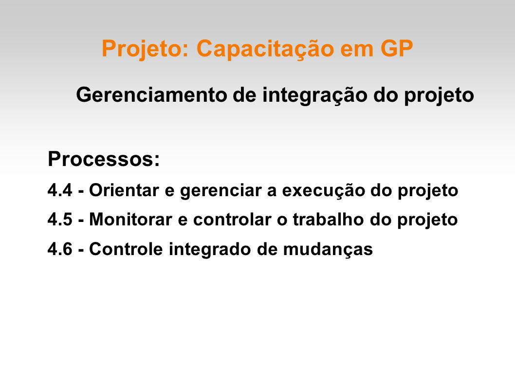 Projeto: Capacitação em GP