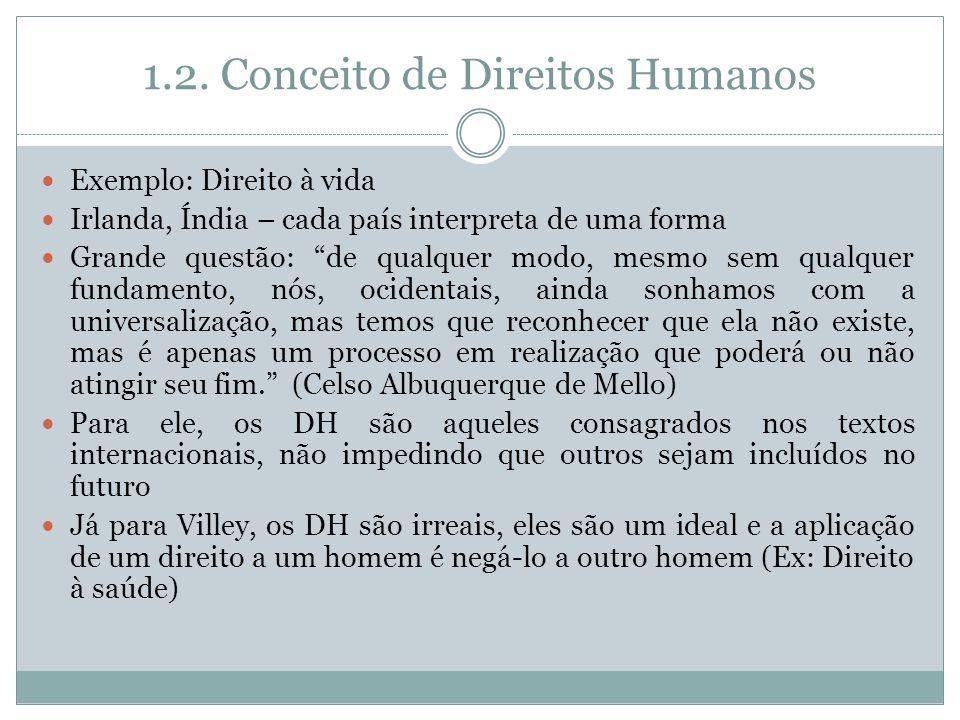 1.2. Conceito de Direitos Humanos