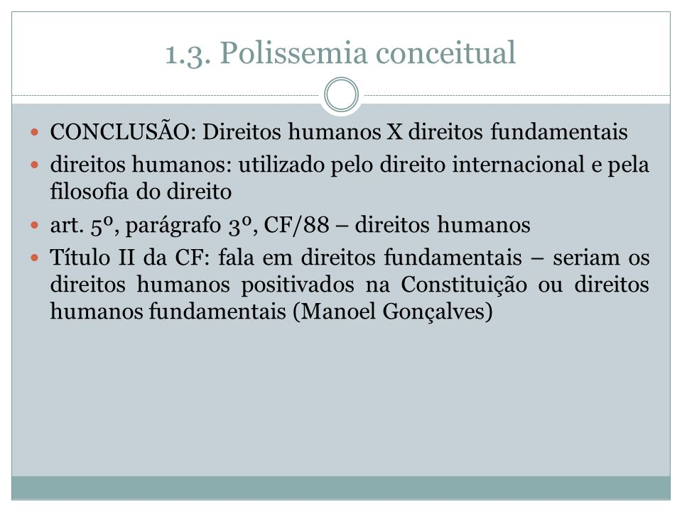 1.3. Polissemia conceitual