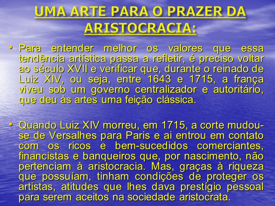 UMA ARTE PARA O PRAZER DA ARISTOCRACIA: