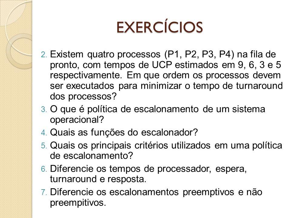 01/04/2017 EXERCÍCIOS.