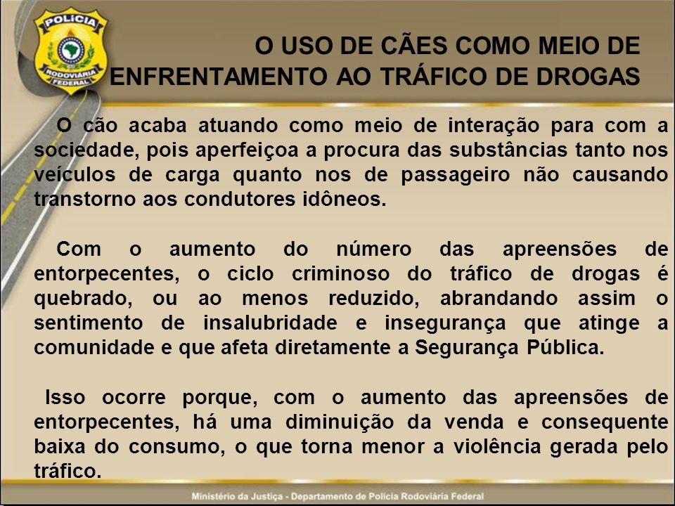 O USO DE CÃES COMO MEIO DE ENFRENTAMENTO AO TRÁFICO DE DROGAS