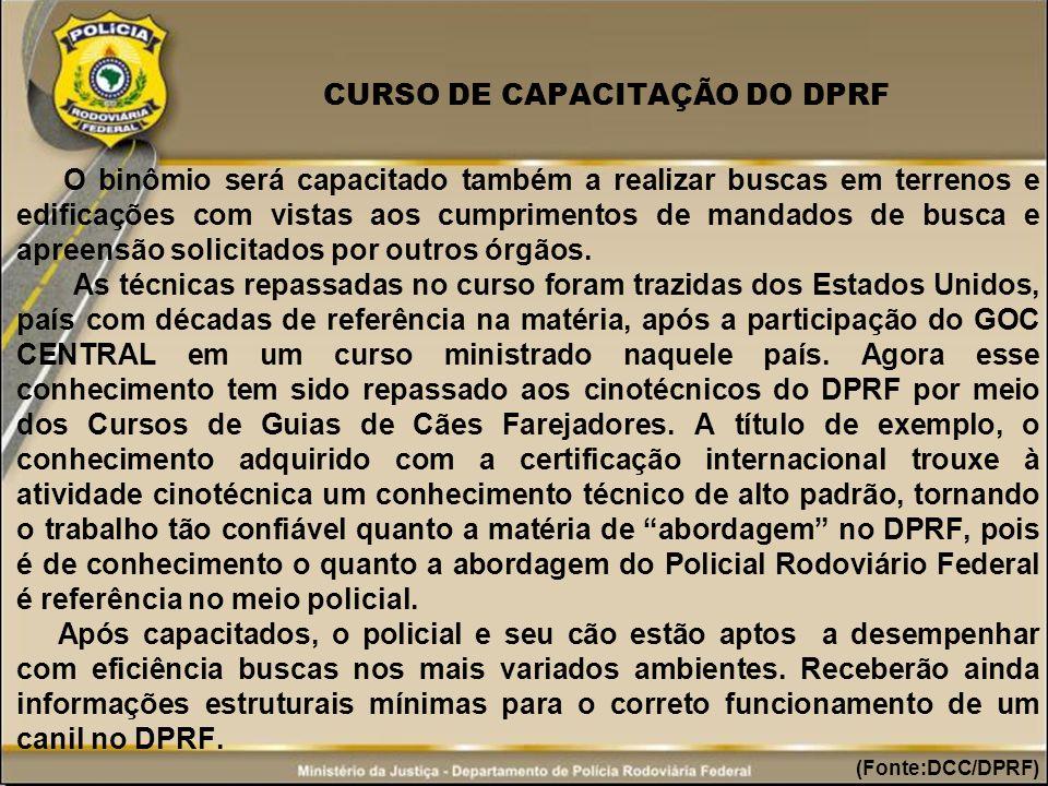 CURSO DE CAPACITAÇÃO DO DPRF