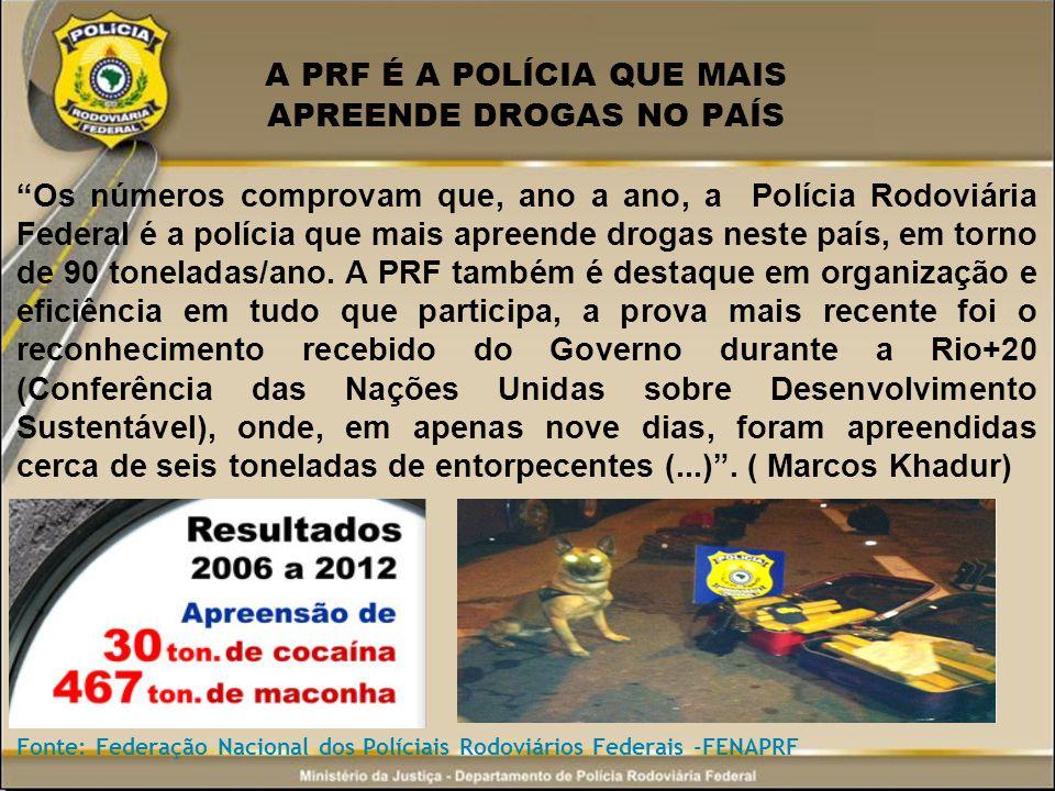 A PRF É A POLÍCIA QUE MAIS APREENDE DROGAS NO PAÍS