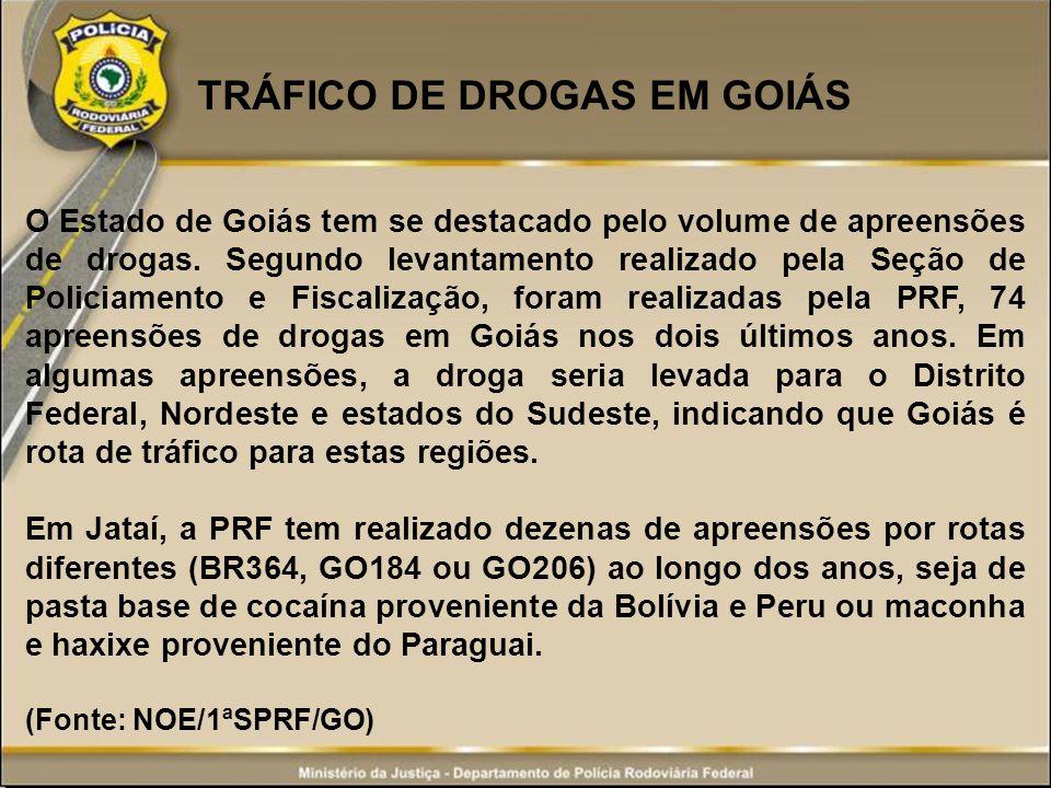 TRÁFICO DE DROGAS EM GOIÁS
