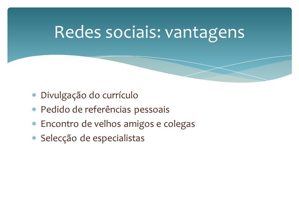 Redes sociais: vantagens