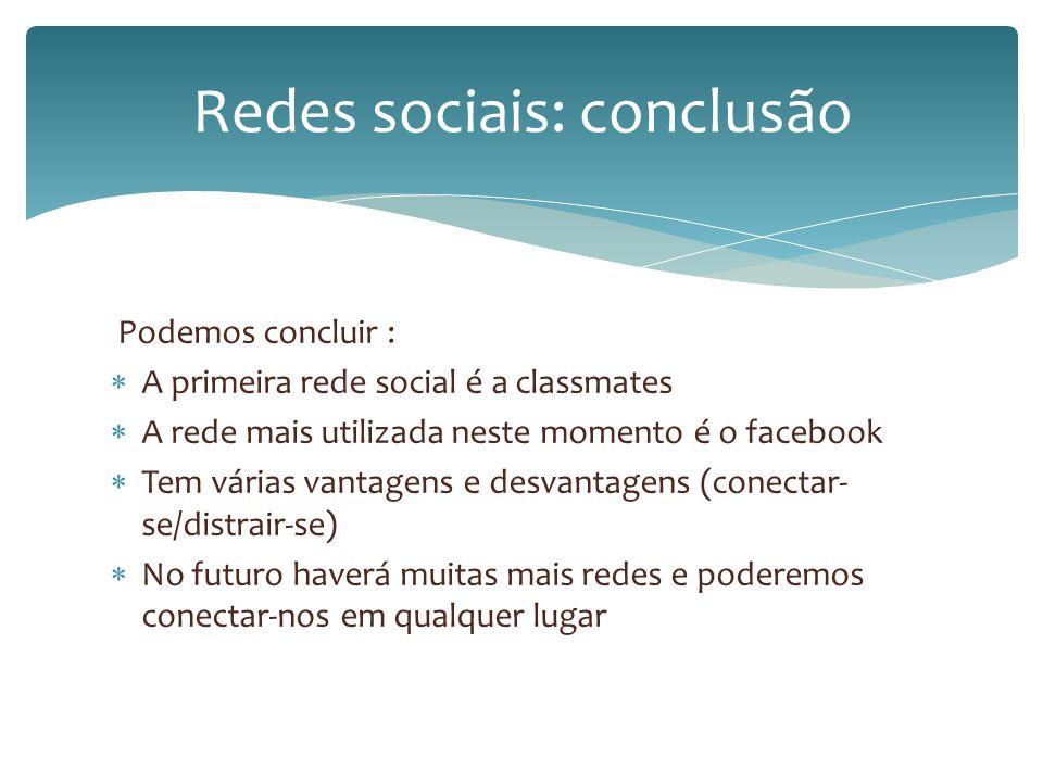 Redes sociais: conclusão