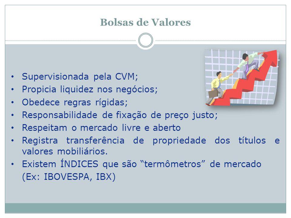 Bolsas de Valores Supervisionada pela CVM;
