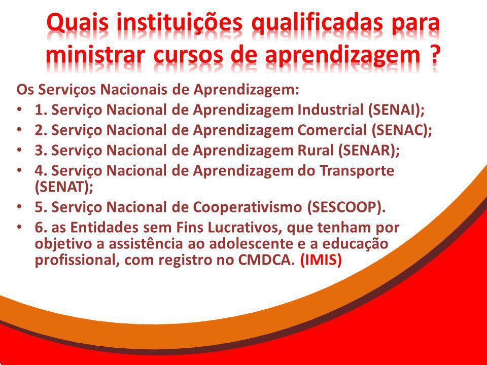 Quais instituições qualificadas para ministrar cursos de aprendizagem