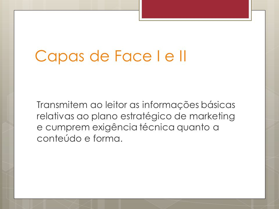 Capas de Face I e II