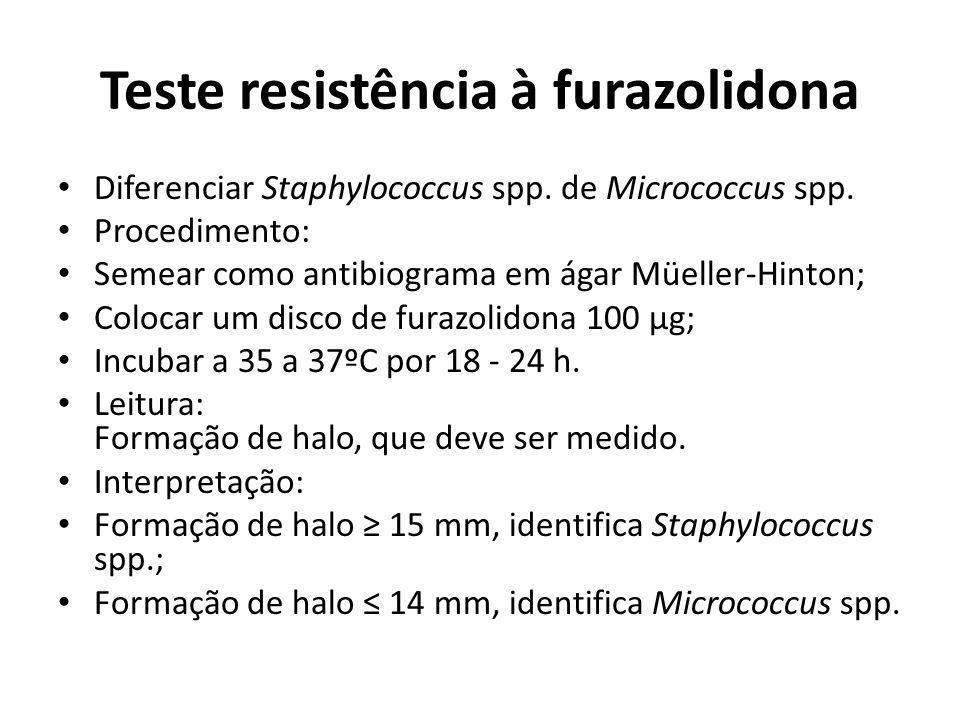 Teste resistência à furazolidona