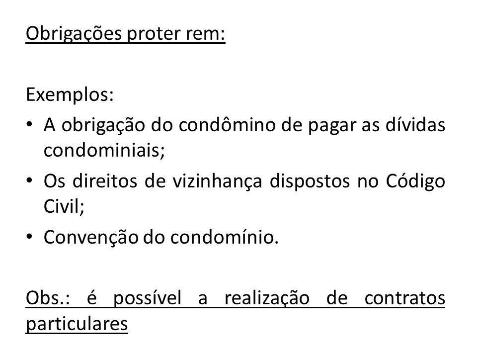 Obrigações proter rem: