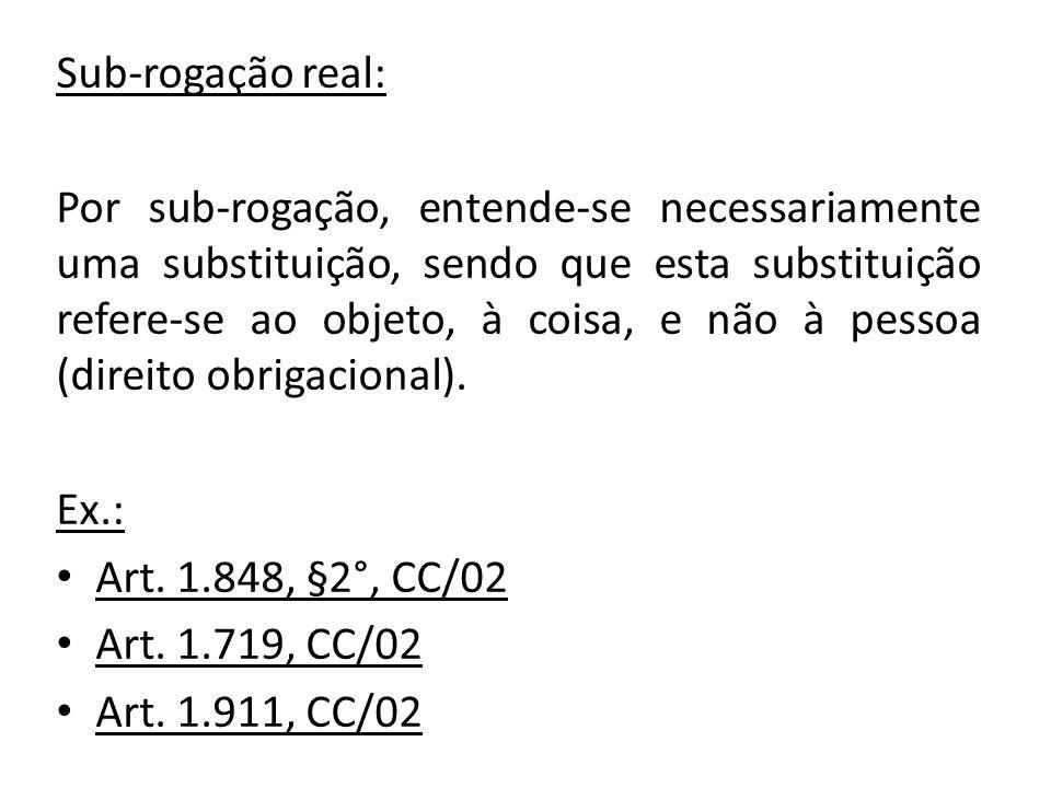 Sub-rogação real: