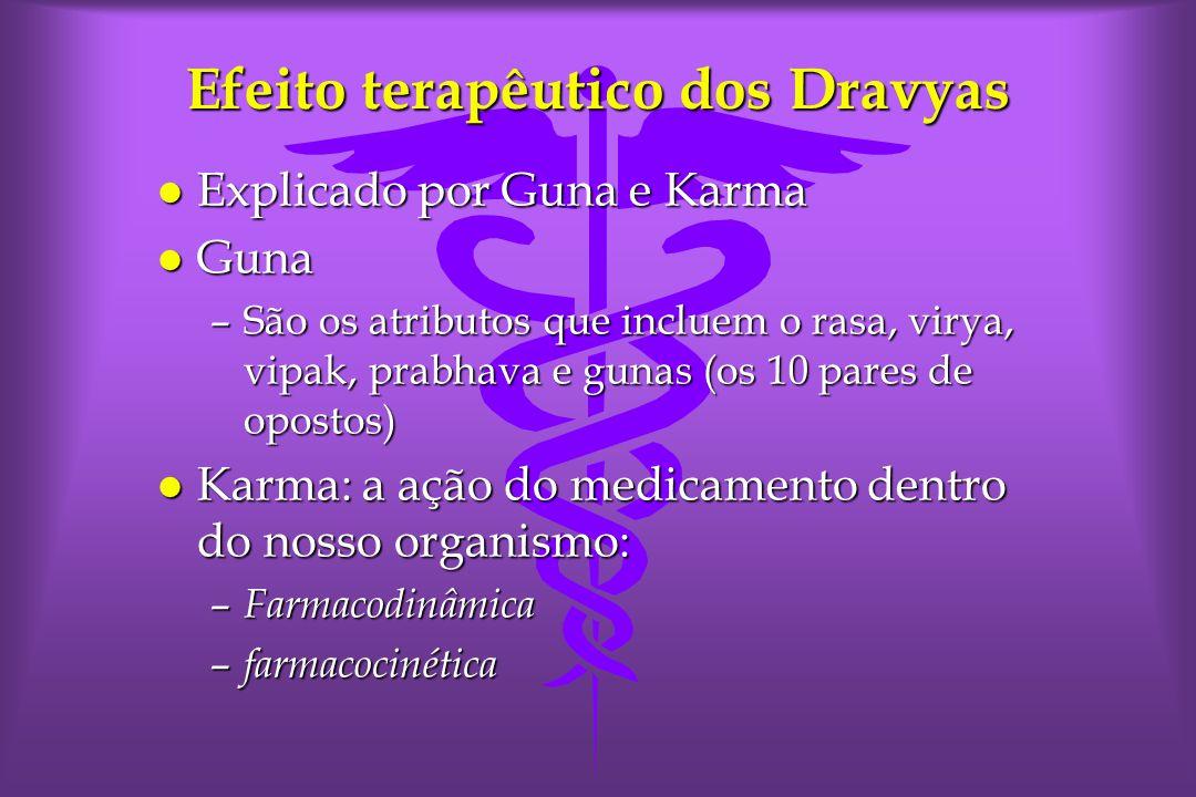 Efeito terapêutico dos Dravyas