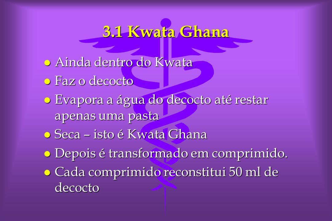 3.1 Kwata Ghana Ainda dentro do Kwata Faz o decocto