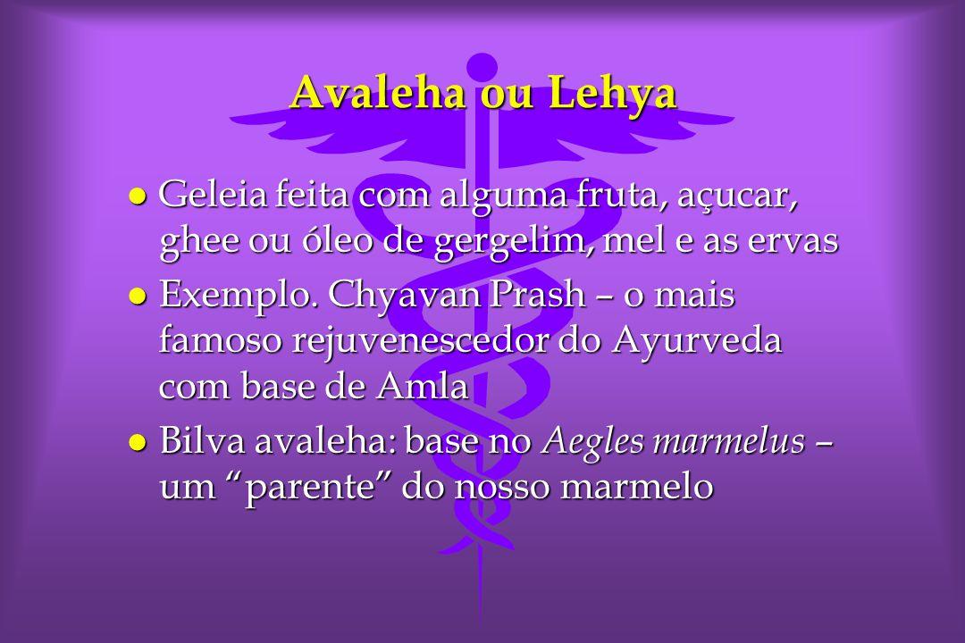 Avaleha ou Lehya Geleia feita com alguma fruta, açucar, ghee ou óleo de gergelim, mel e as ervas.