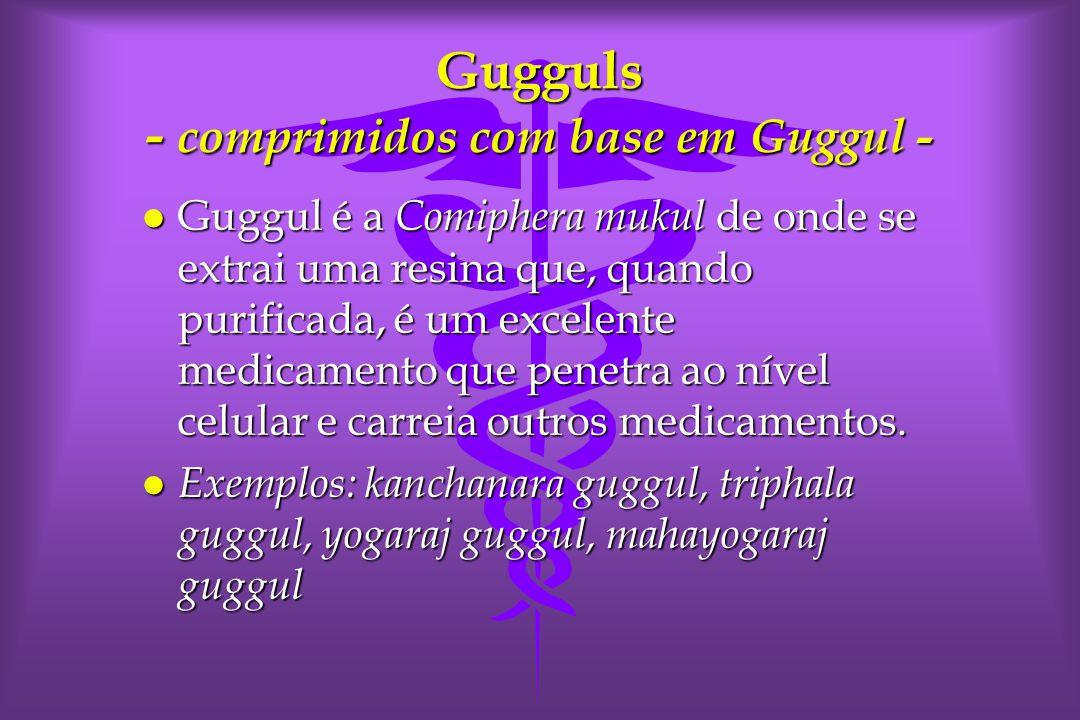 Gugguls - comprimidos com base em Guggul -