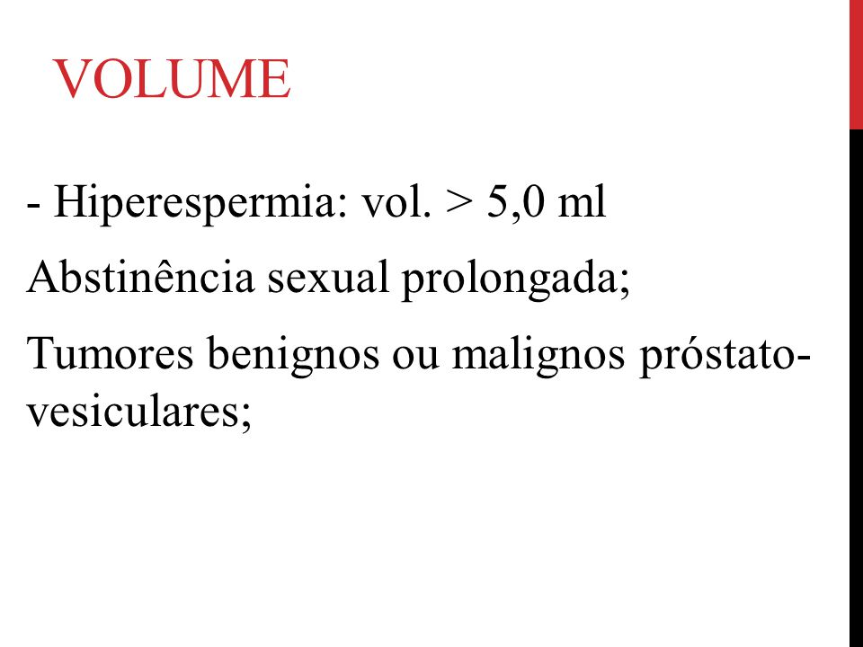 volume - Hiperespermia: vol.