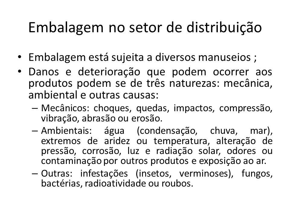 Embalagem no setor de distribuição