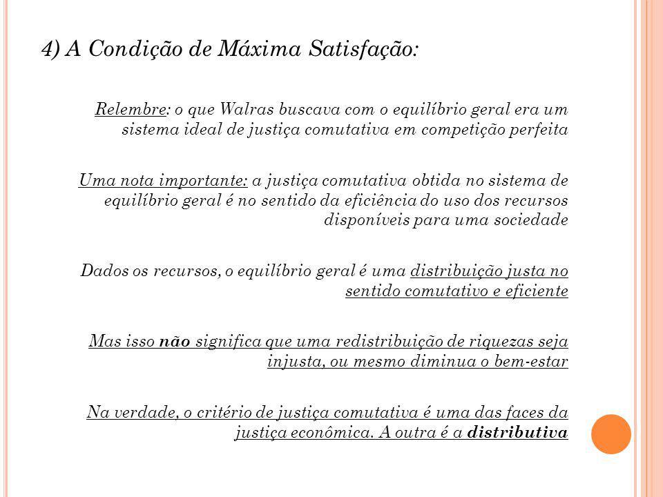 4) A Condição de Máxima Satisfação: