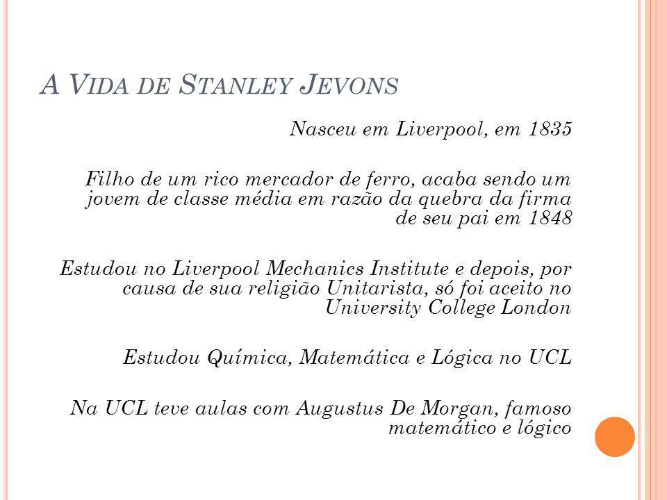 A Vida de Stanley Jevons