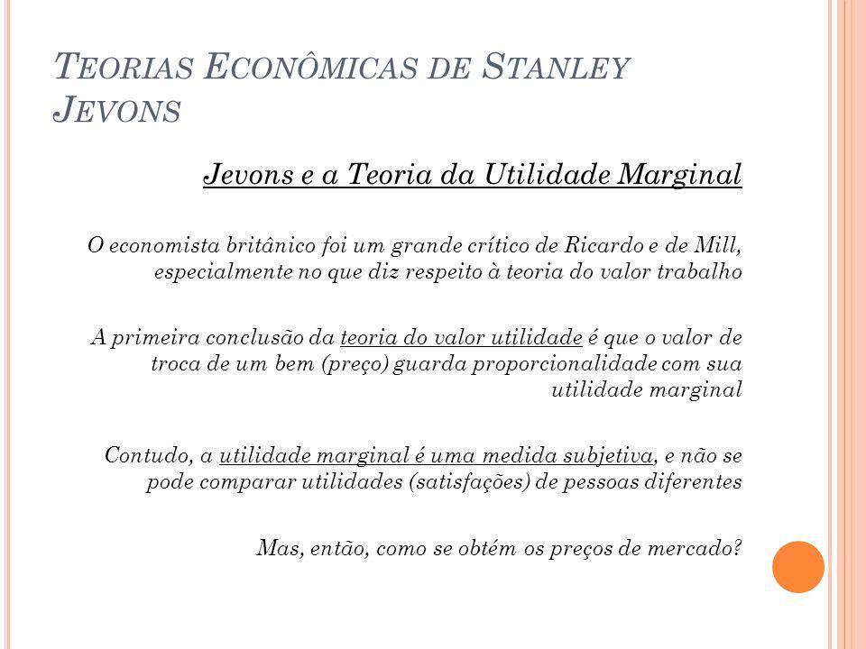 Teorias Econômicas de Stanley Jevons