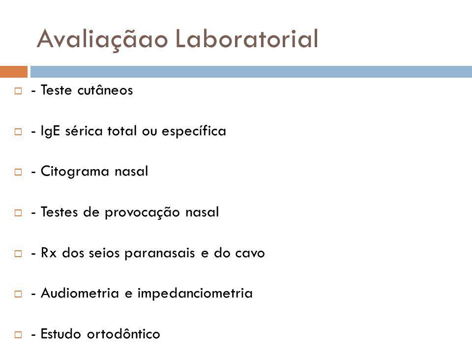 Avaliaçãao Laboratorial