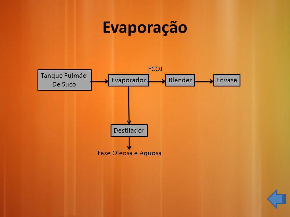 Evaporação FCOJ Tanque Pulmão De Suco Evaporador Blender Envase