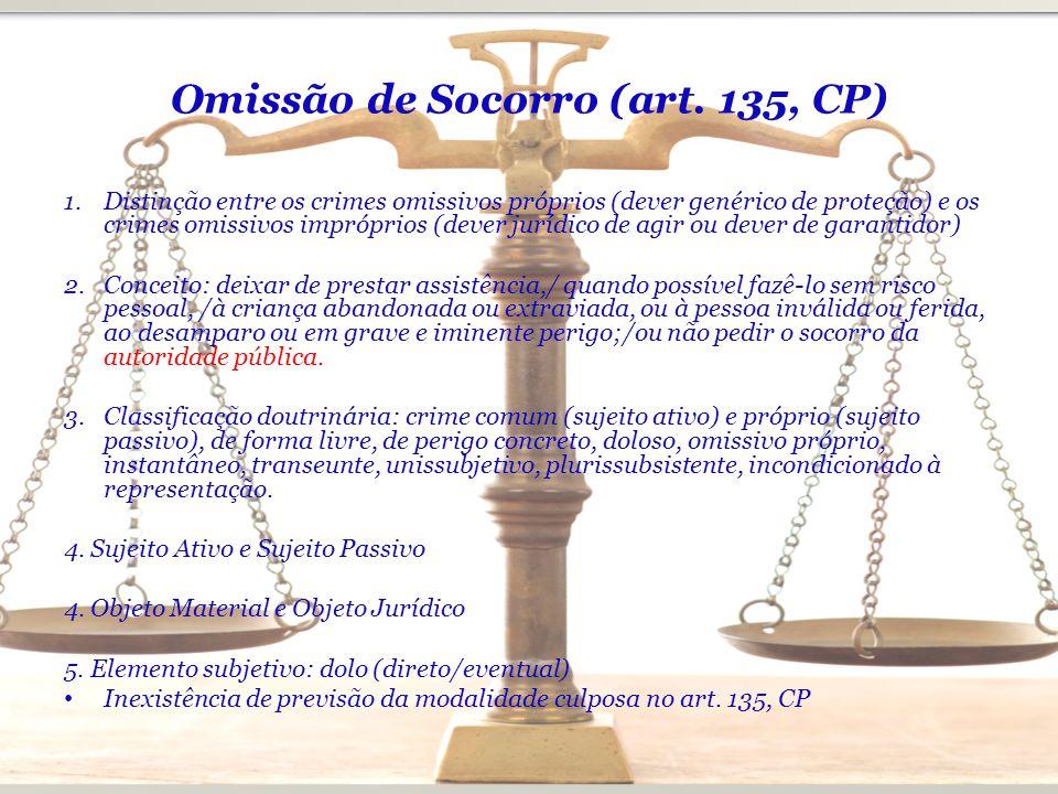 Omissão de Socorro (art. 135, CP)