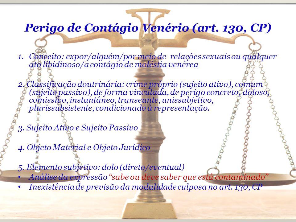 Perigo de Contágio Venério (art. 130, CP)