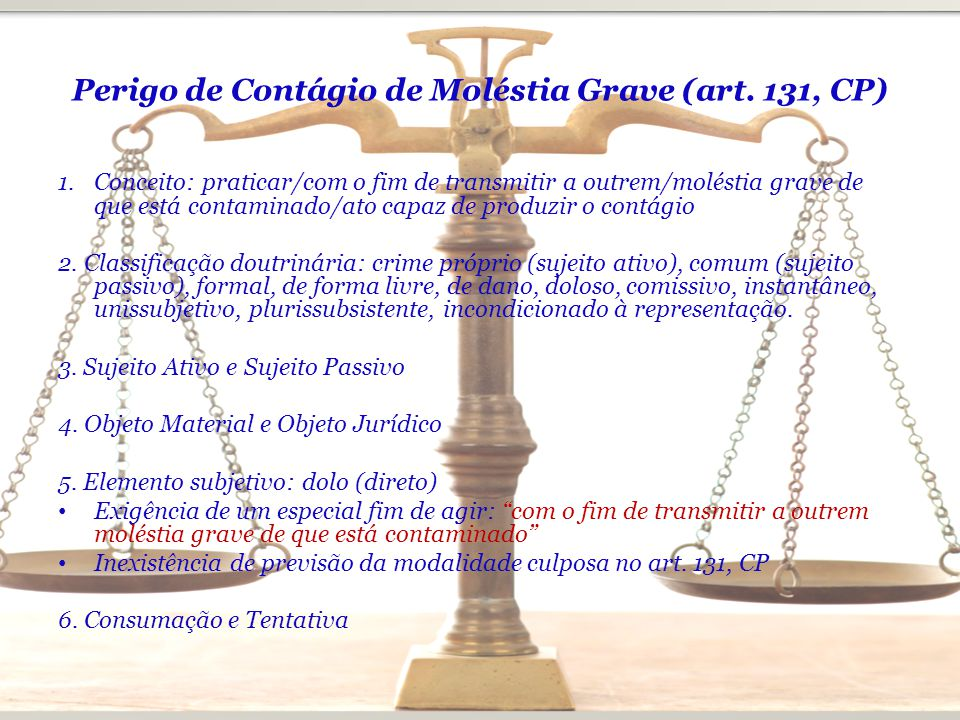 Perigo de Contágio de Moléstia Grave (art. 131, CP)