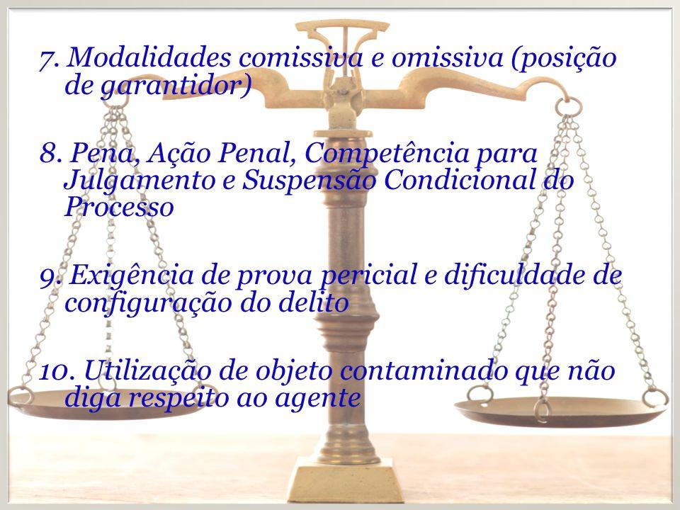 7. Modalidades comissiva e omissiva (posição de garantidor)