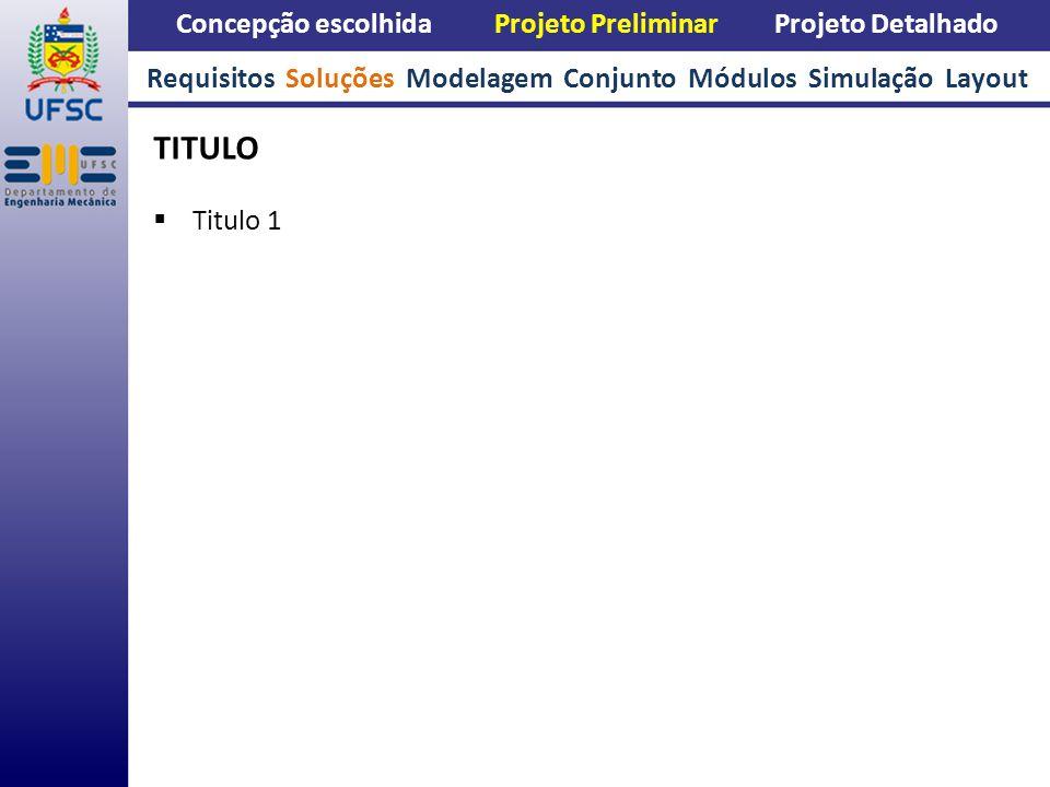 TITULO Concepção escolhida Projeto Preliminar Projeto Detalhado