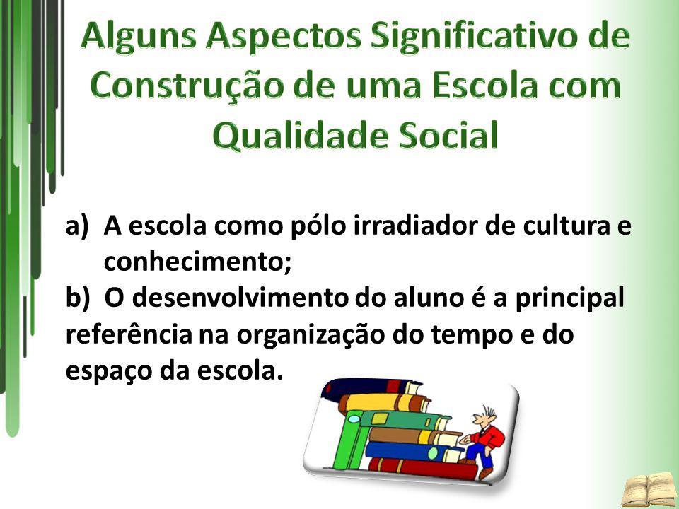 Alguns Aspectos Significativo de Construção de uma Escola com Qualidade Social