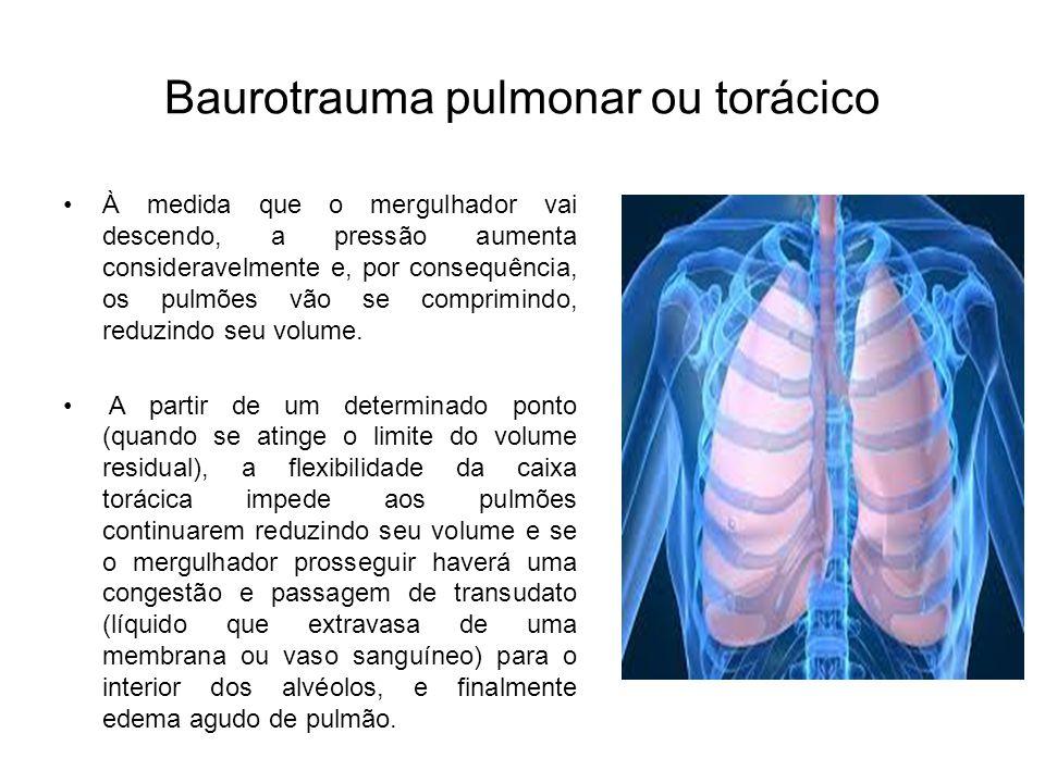 Baurotrauma pulmonar ou torácico