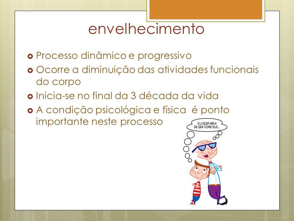 envelhecimento Processo dinâmico e progressivo