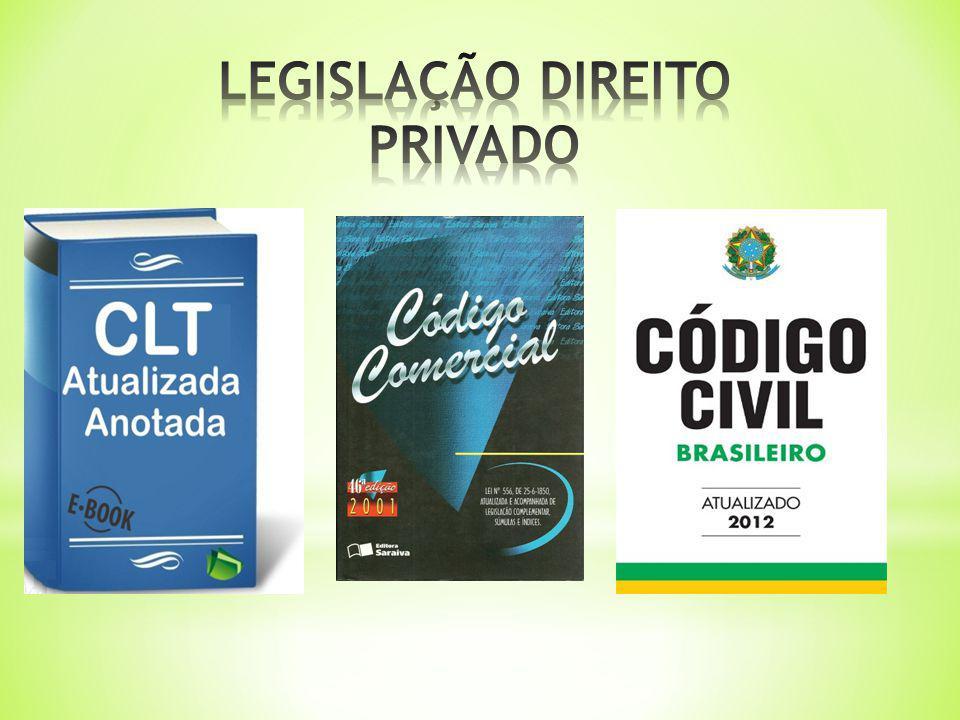LEGISLAÇÃO DIREITO PRIVADO