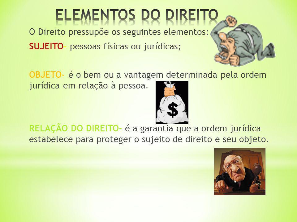 ELEMENTOS DO DIREITO