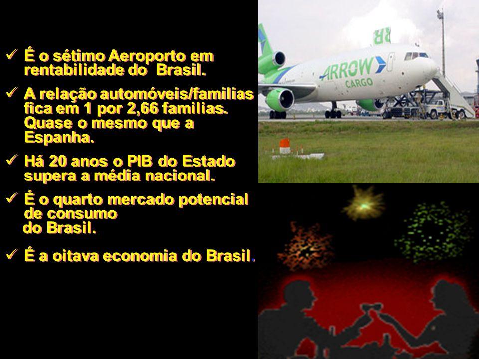 É o sétimo Aeroporto em rentabilidade do Brasil.