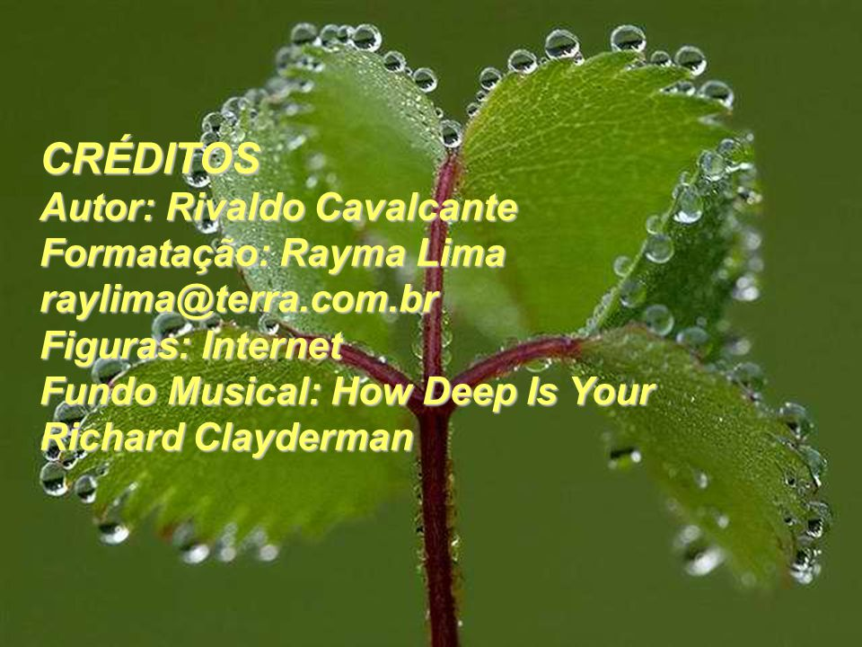 CRÉDITOS Autor: Rivaldo Cavalcante Formatação: Rayma Lima