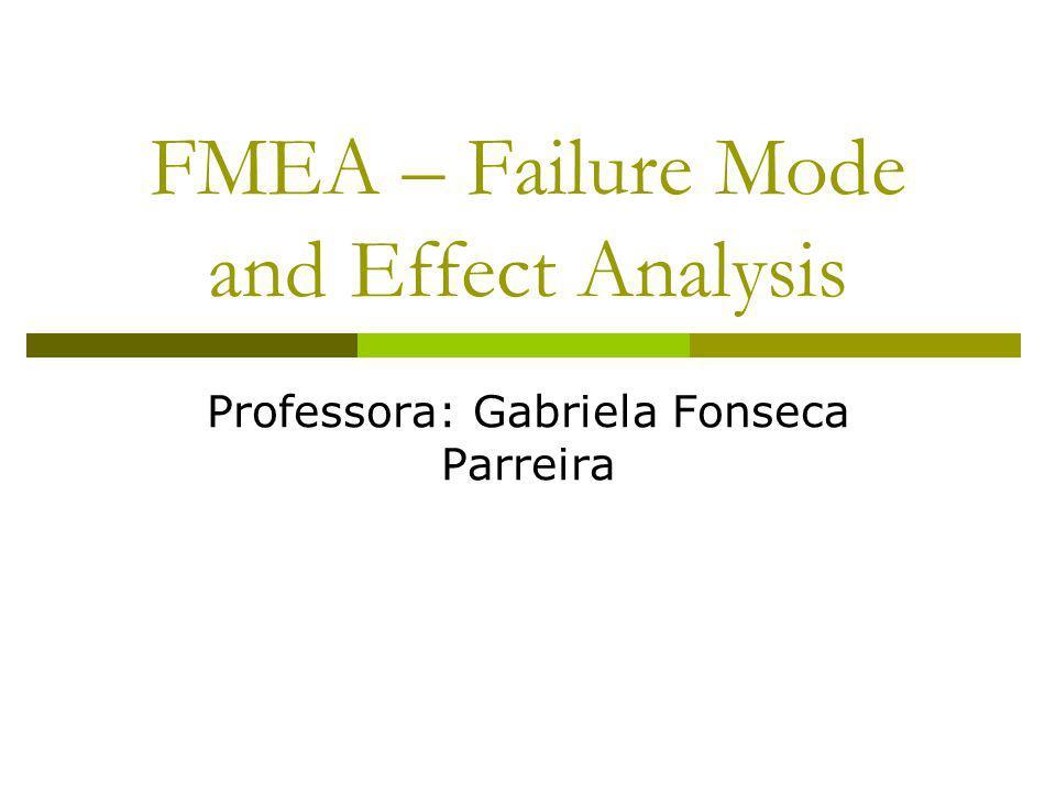 FMEA – Failure Mode and Effect Analysis