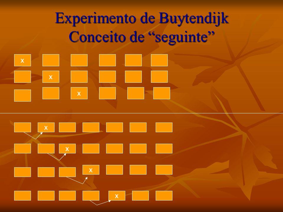 Experimento de Buytendijk Conceito de seguinte