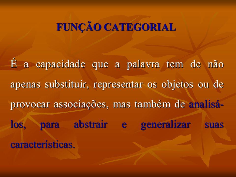 FUNÇÃO CATEGORIAL