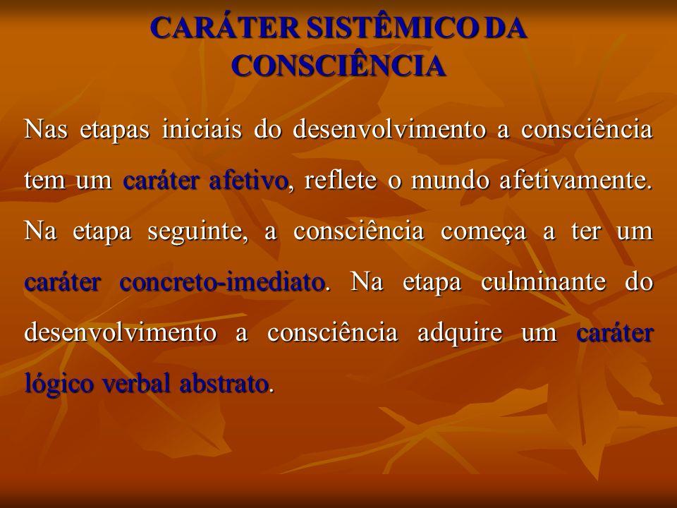 CARÁTER SISTÊMICO DA CONSCIÊNCIA