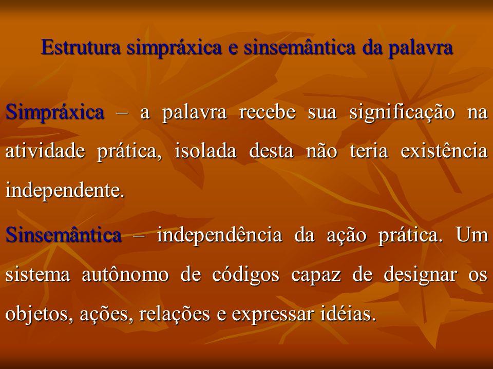 Estrutura simpráxica e sinsemântica da palavra